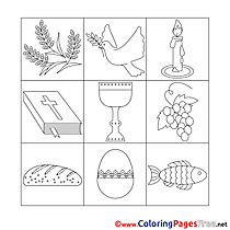 Decoration download Confirmation Coloring Pages