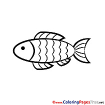 Fish for Kids Confirmation Colouring Page