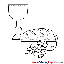 Food free Colouring Page Confirmation