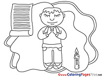 Free Colouring Page Priest Confirmation