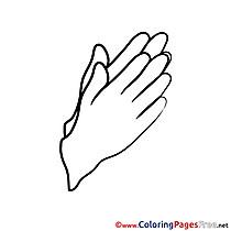 Hands Kids Confirmation Coloring Page