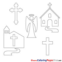 Illustration for Kids Confirmation Colouring Page