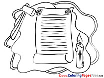 Paper Colouring Sheet download Confirmation