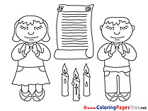 Priest Kids Confirmation Coloring Page