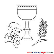 Wine Coloring Sheets Confirmation free