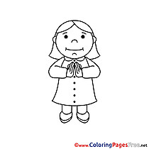 Woman printable Coloring Pages Confirmation