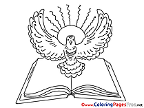 Bible printable Pentecost Coloring Sheets