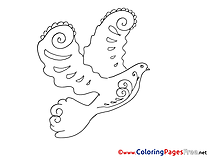 Colouring Sheet download Pigeon Pentecost