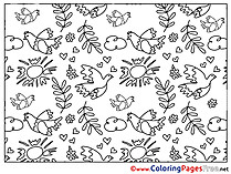 Decoration Pentecost free Coloring Pages