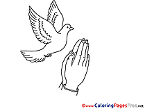 For Kids Pentecost Colouring Page Hands