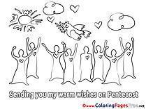 Holiday download Pentecost Coloring Pages
