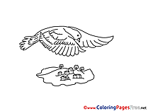 Illustration Children Pentecost Colouring Page