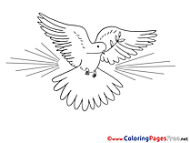 Image Coloring Pages Pigeon Pentecost