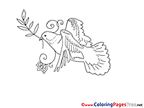 Olive Branch Pentecost Coloring Pages free