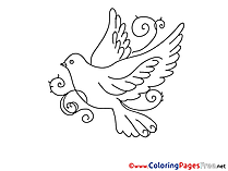 Pentecost Coloring Pages free Pigeon