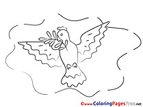 Pentecost Colouring Sheet free Olive