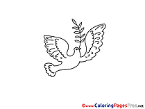 Pentecost free Coloring Pages