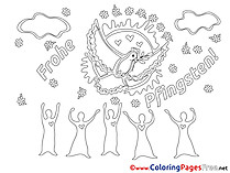 People printable Pentecost Coloring Sheets