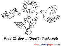 Sky Kids Pentecost Coloring Pages Pigeons