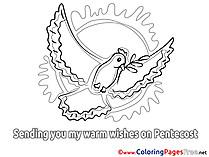 Sun printable Pentecost Coloring Sheets