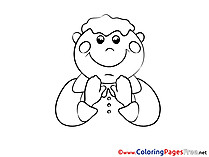 Religion Kids Prayer Coloring Pages