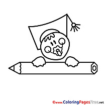 Baby for free School Coloring Pages download