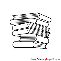 Books Coloring Pages School for free