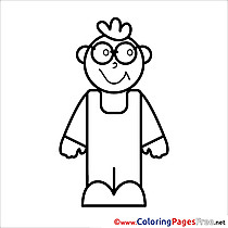 Boy download printable School Coloring Pages