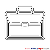 Briefcase for free Coloring Pages download