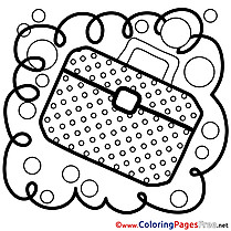 Briefcase printable Coloring Sheets download