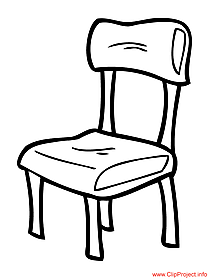Chair image to color for school