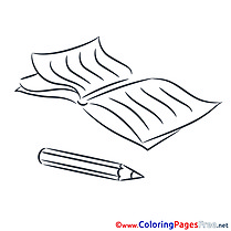 Diary Education School printable Coloring Pages for free
