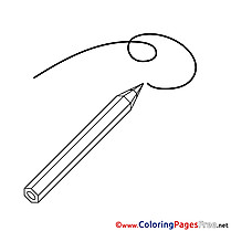 Drawing Kids Pencil free Coloring Page