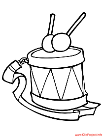 Drum image to color for school