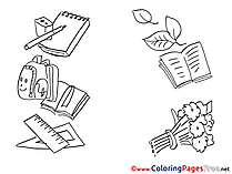 Education School Colouring Sheet download free