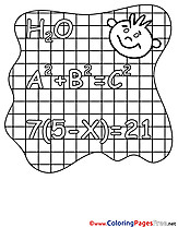 Equation Coloring Pages for free