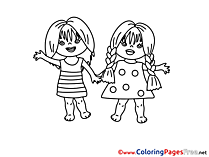 Friends download School printable Coloring Pages