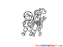 Friends Kids School Coloring Pages for free