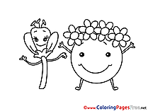 Happy Earth Day printable Coloring Pages for free
