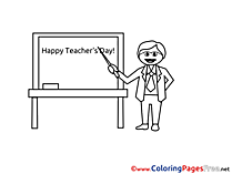Holiday Happy Teacher's Day Coloring Sheets download free