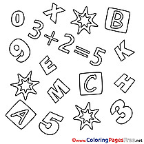 Math Kids download Coloring Pages