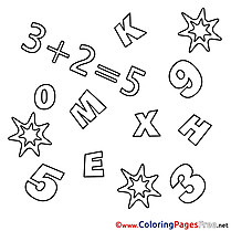 Math Numbers Children Coloring Pages free