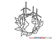 Mills for Children free School Coloring Pages