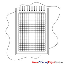 Notepad free printable Coloring Sheets