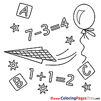 Numbers Math download printable Coloring Pages
