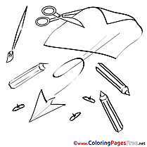 Plane Pencils Cut Colouring Page School printable free