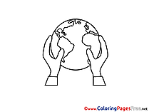 Planet Earth printable Coloring Sheets download