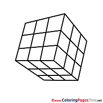 Rubik's Cube for Kids printable Colouring Page