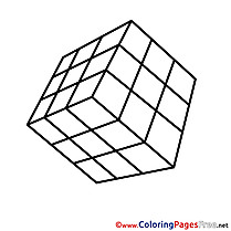 Rubik's Cube printable Coloring Pages for free