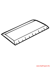 Ruler image coloring page for school